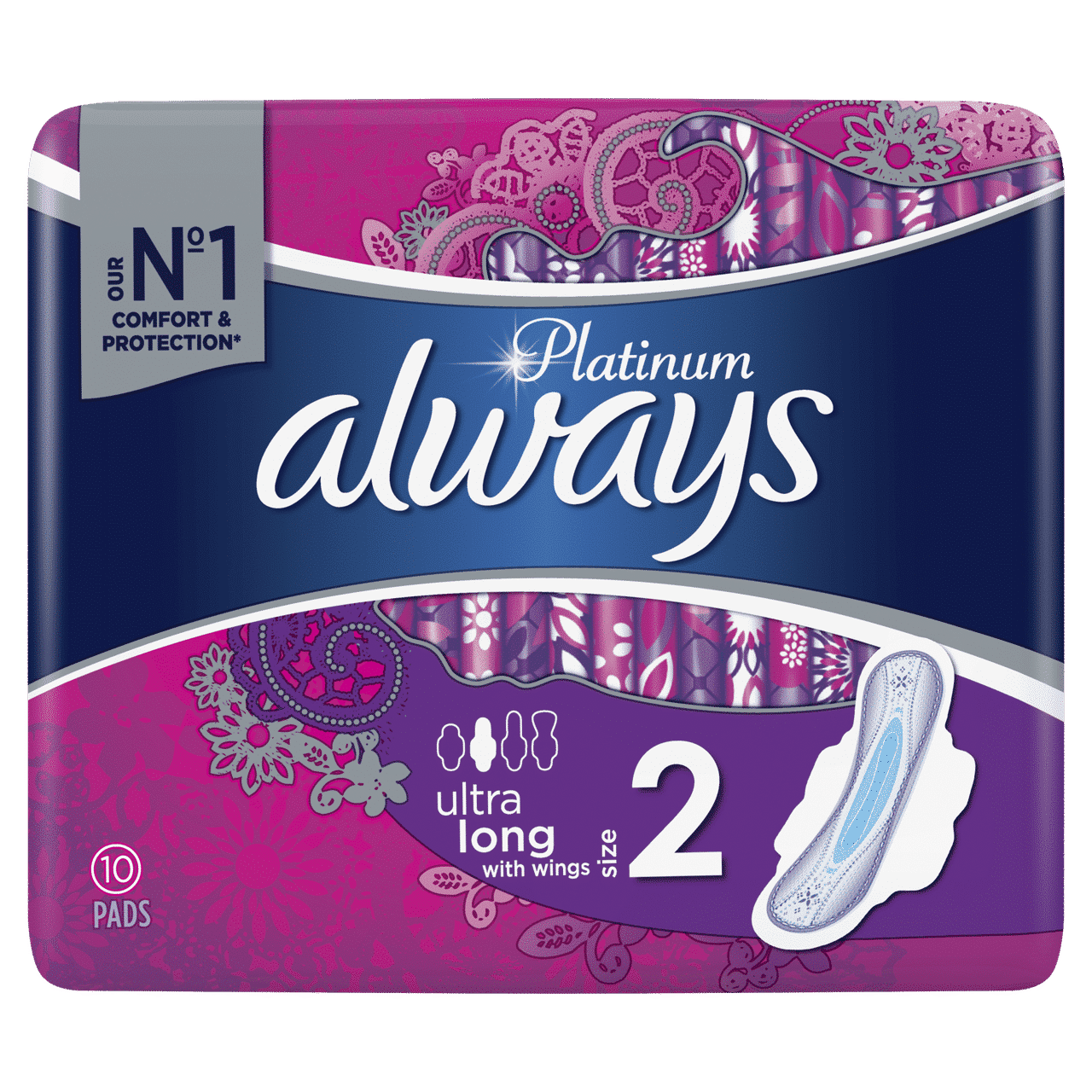 ALWAYS PLATINUM ULTRA LONG PLUS BY 10 (NEW)