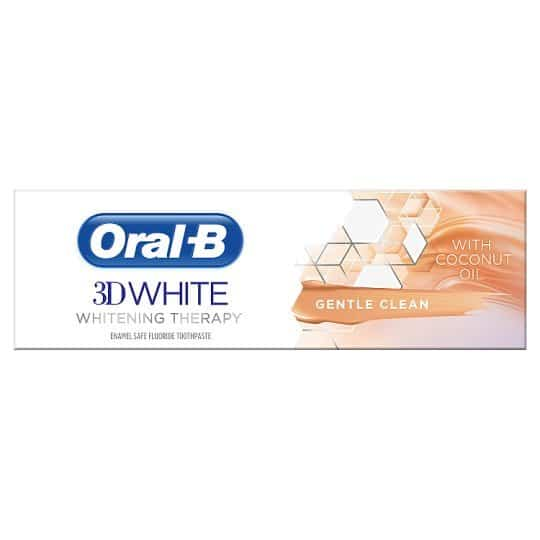 ORAL B TOOTHPASTE 3D WHITE THERAPY COCONUT 75ML (NEW)