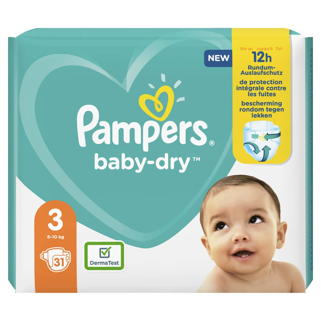 PAMPERS CARRY PACK BABYDRY  SIZE 3 (By 31 nappies) (NEW)