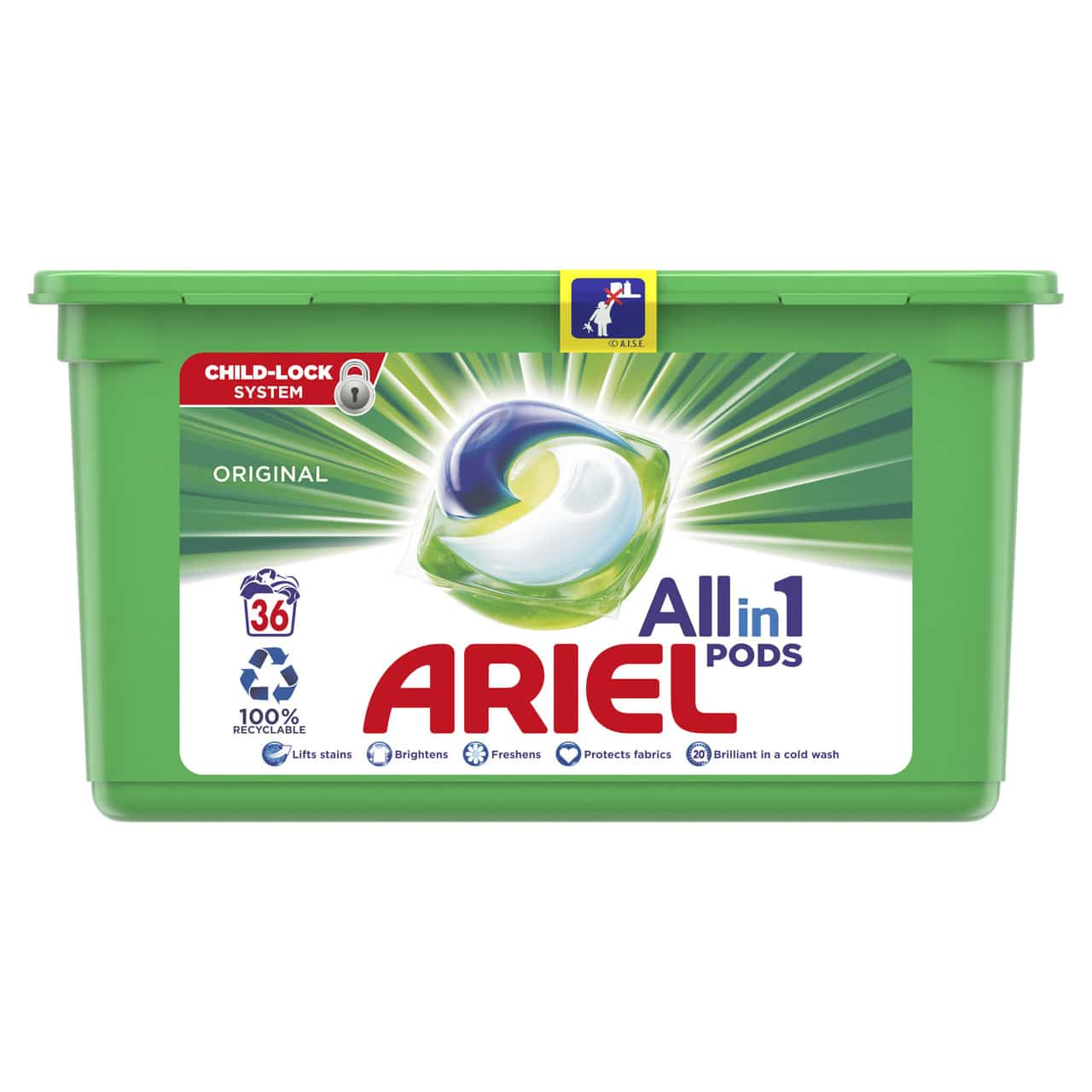 ARIEL PODS REGULAR, 36 WASHES (25.2GR)