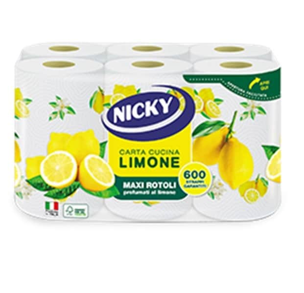 NICKY PAPER TOWELS LEMON 2 PLY 6 ROLLS