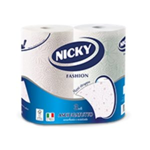 NICKY PAPER TOWELS FASHION 3 PLY 2 ROLLS