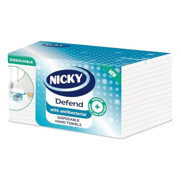 NICKY PAPER TOWELS DEFEND ANTIBAC 2PLY X100PCS (NEW)