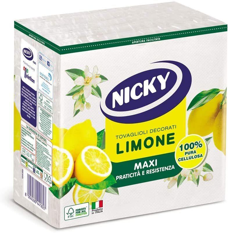 NICKY NAPKINS MAXI LEMON 2 PLY 35PCS