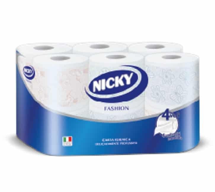 NICKY TOILET PAPER FASHION 4 PLY 12 ROLLS