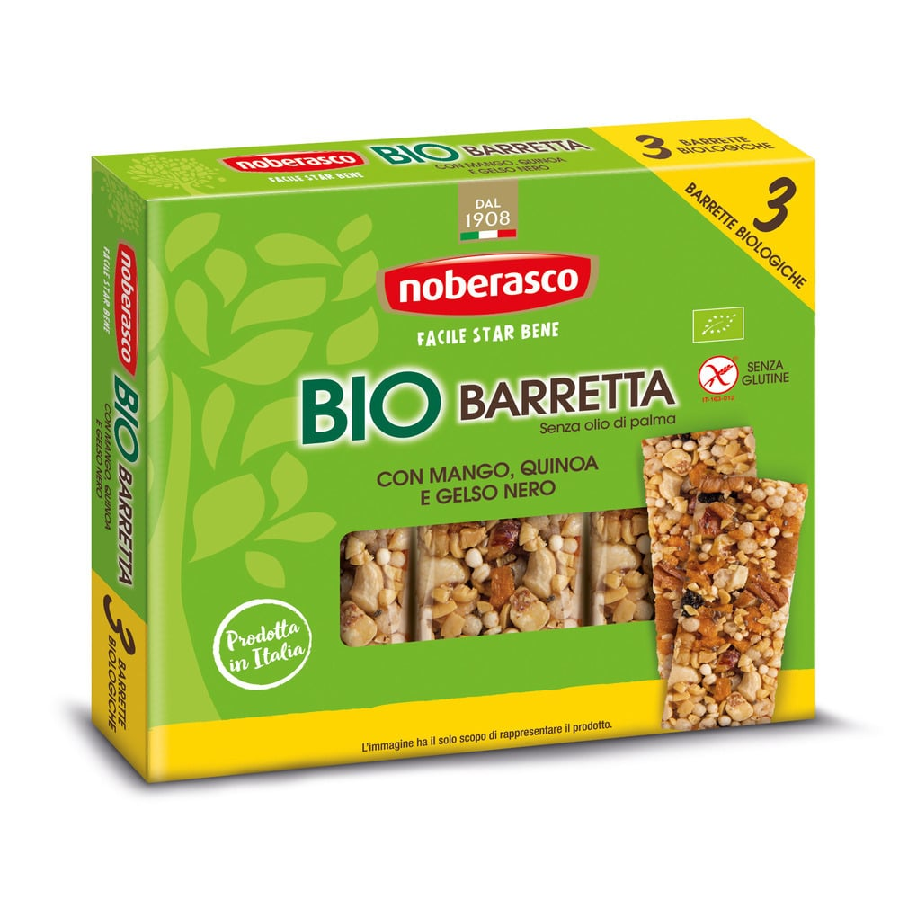 Noberasco Tripack Bio Bar with Mango 3 x 25g (NEW)