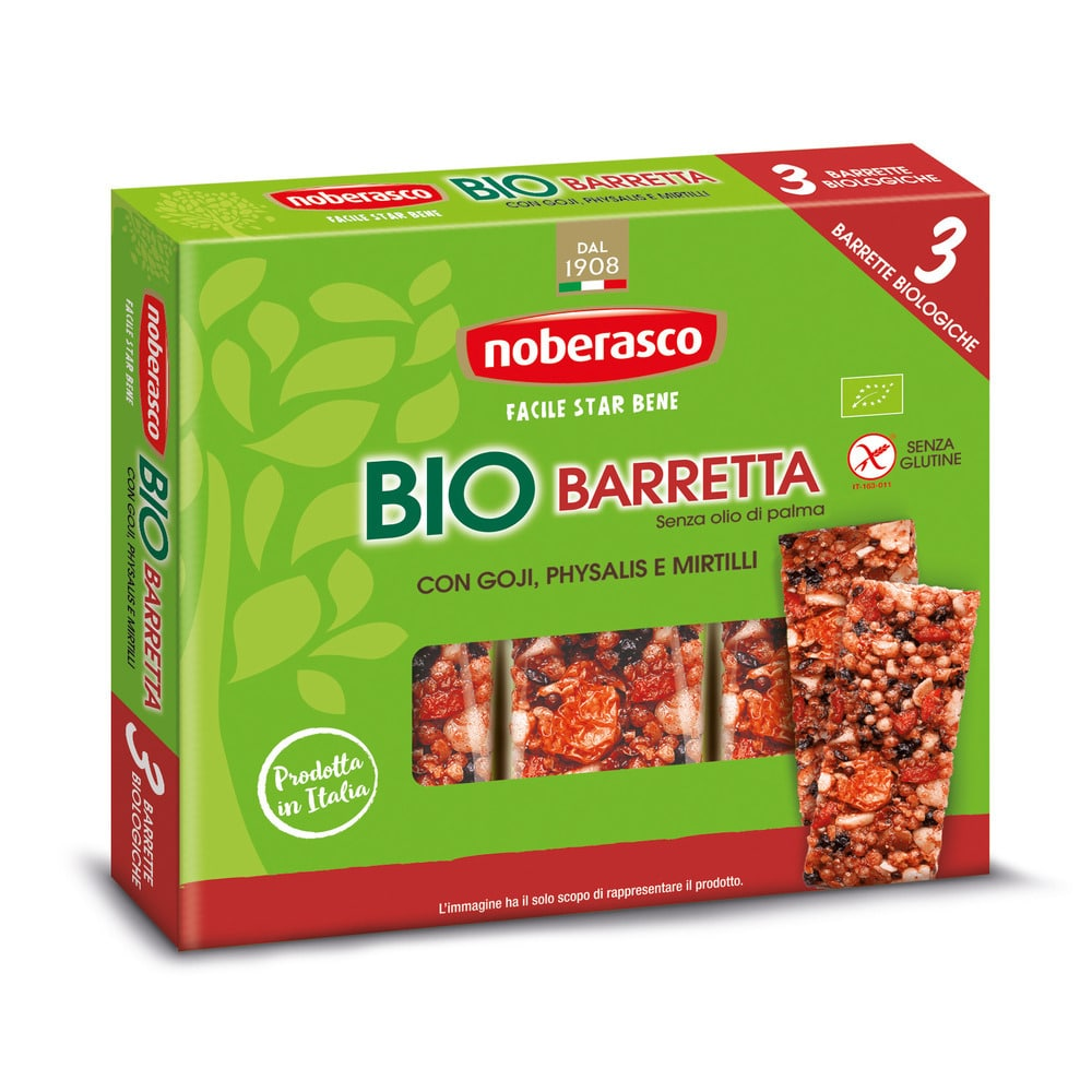 Noberasco Tripack Bio Bar with Goji 3 x 25g (NEW)