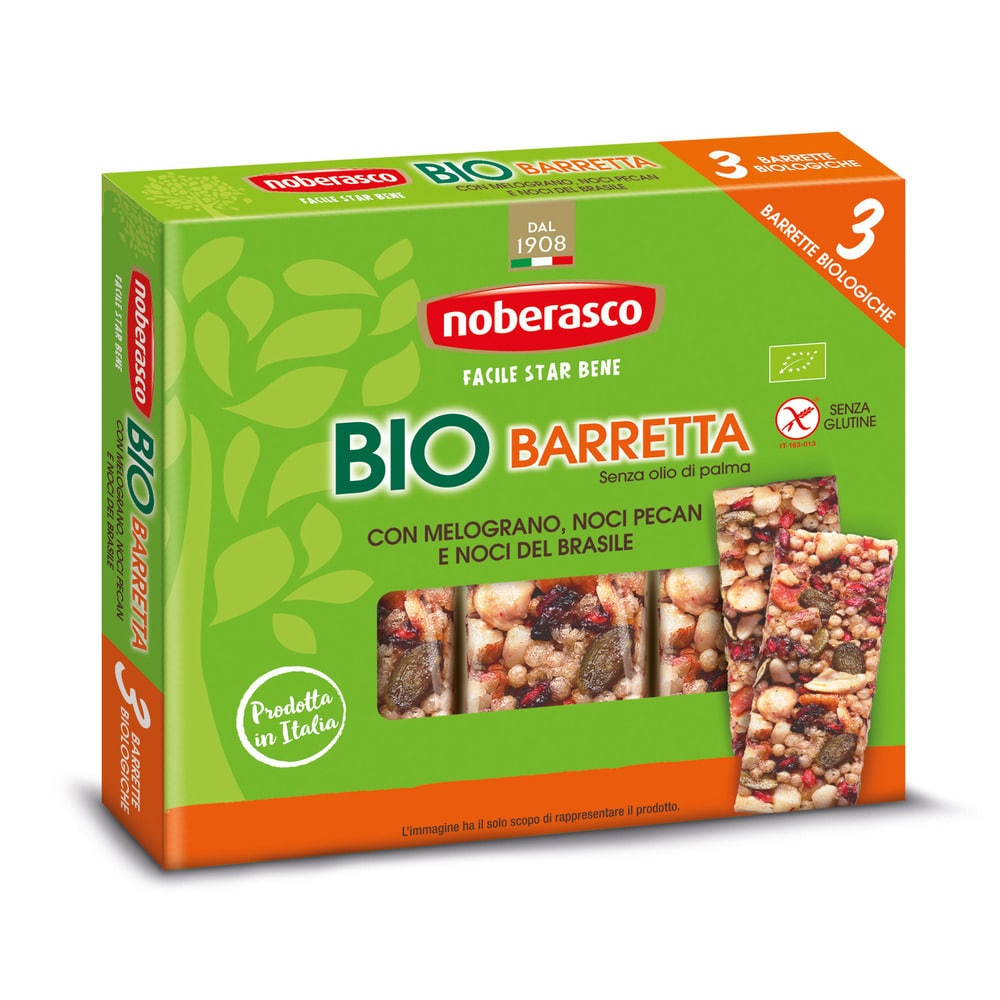 Noberasco Tripack Bio Bar with Pomegranate 3 x 25g (NEW)
