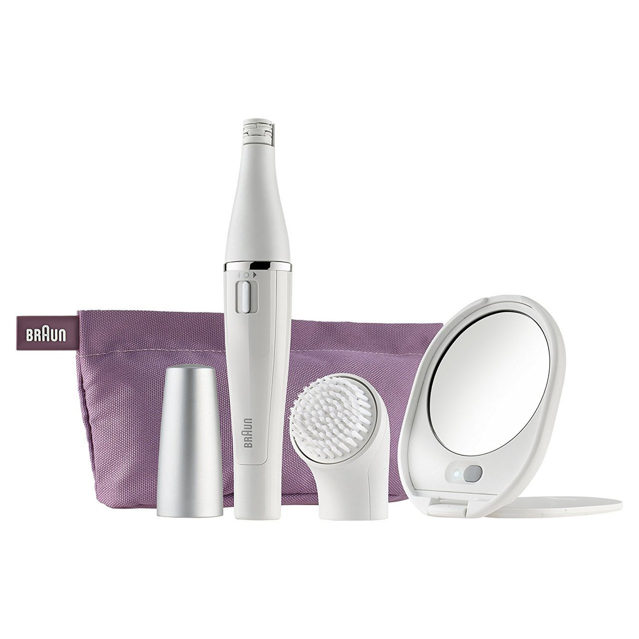 BRAUN FACE EPILATOR 830 +MIRROR +POUCH (NEW)