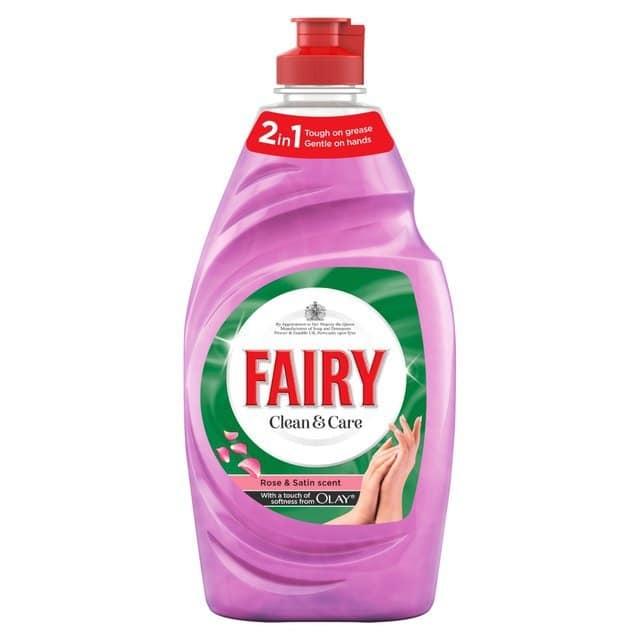 FAIRY DW CLEANCARE ROSE & SATIN 383ML