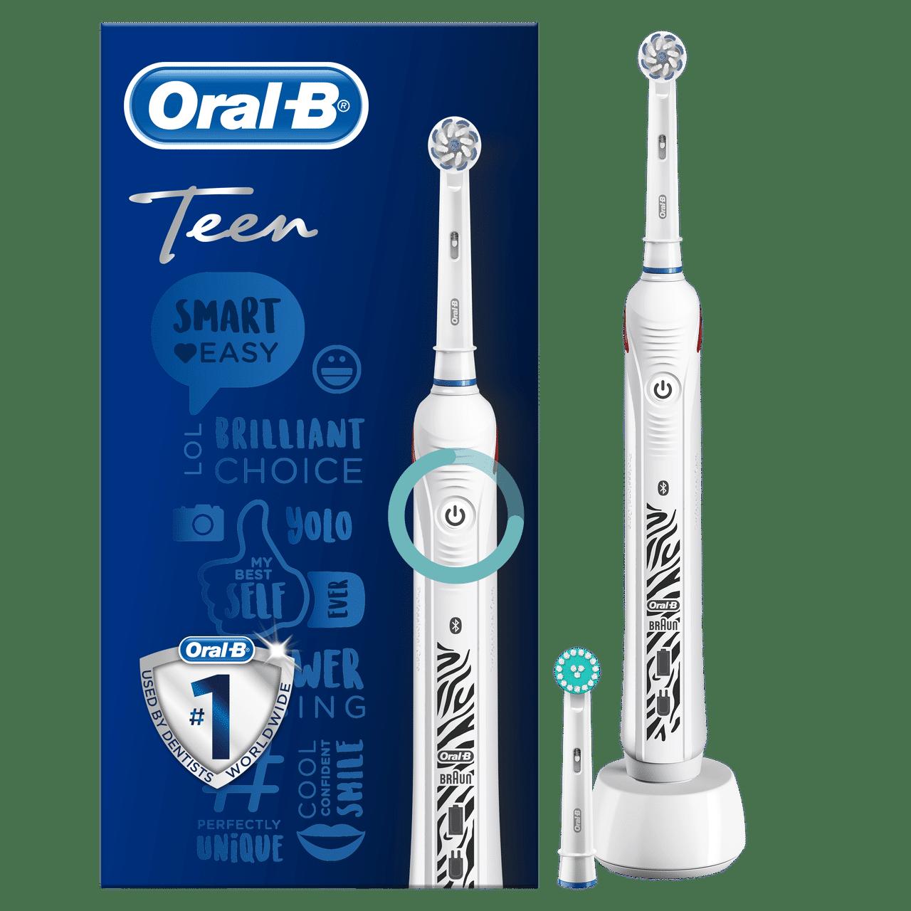 ORAL B POWER TOOTHBRUSH TEEN  WHITE HANDLE