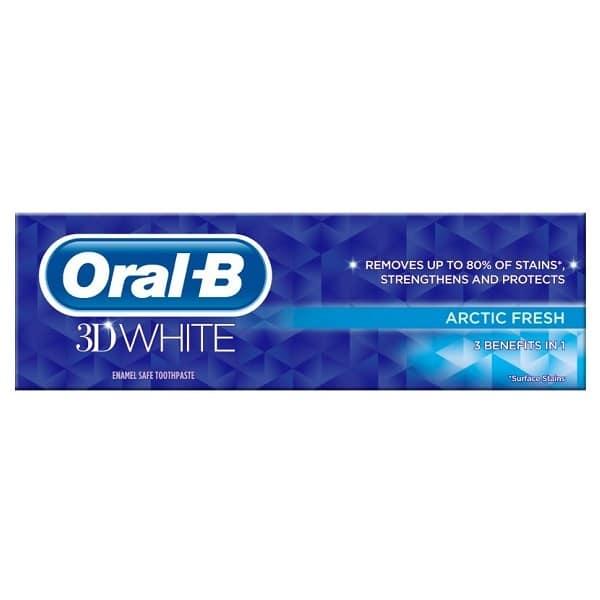 ORAL B TOOTHPASTE 3D WHITE ARCTIC FRESH (75ML)